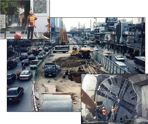 BANGKOK MRTA INITIAL SYSTEM PROJECT UNDERGROUND STRUCTURE - SOUTH MONITORING SYSTEM